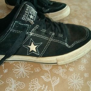 Converse One Star Black Shoe Sz 2